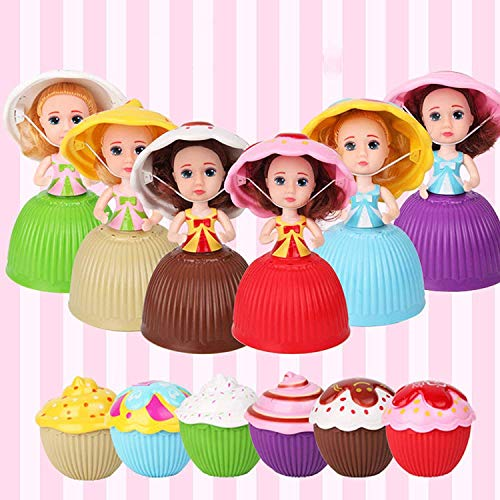 Christoy 12PCS Mini Beautiful Cake Doll Toy Surprise Cupcake Princess Doll Toys for Children Kid Transformed Scented Girls Funny Game Gift (12PCS)