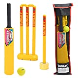 SUNLEY Plastic Cricket kit for All Age Groups and Sizes (1 Piece Cricket Bat, 4 Piece Wickets, 2...