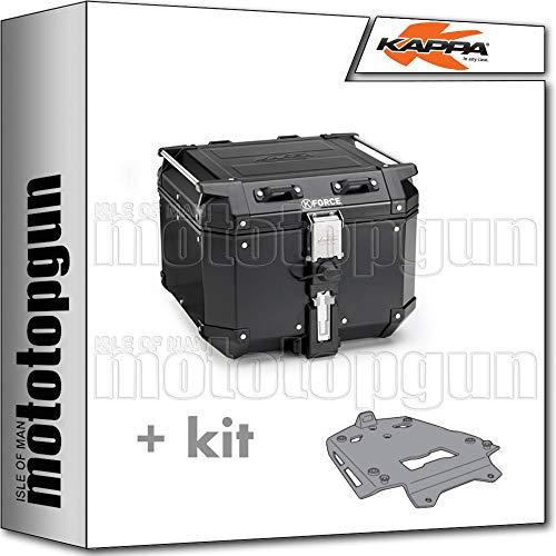 kappa maleta kfr420b k'force 42 lt + portaequipaje aluminio monokey compatible con...
