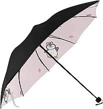 Best Umbrella Pattern Cute Cartoon Penguin Dot Underside Printing Umbrella Stroller Travel Waterproof Travel Umbrella Compact Umbrellas For Kids With 95% Uv Protection For Women Men Lady Girl
