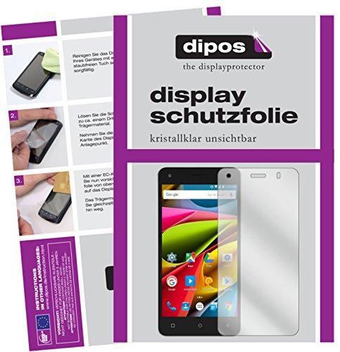 dipos I 2X Schutzfolie klar kompatibel mit Archos 50b Cobalt Lite Folie Bildschirmschutzfolie