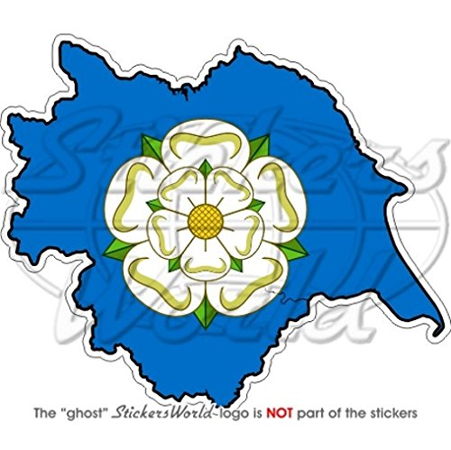 YORKSHIRE County Map-Flag Witte Roos van York Engeland Britse 4.3