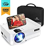 Videoprojecteur, Vankyo 5000 Lumens Mini Video Projecteur 720P Native Soutien 1080P Full HD Retroprojecteur Portable Multimédia Home Cinéma Compatible VGA HDMI AV USB