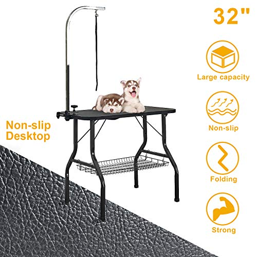 VECELA Pet Dog Grooming Table Small Size Heavy Duty 32