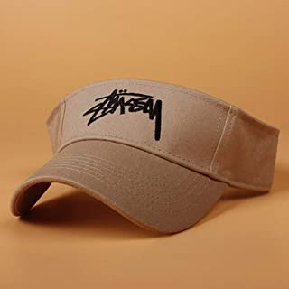 Vadeytfl Visor Hats,Sun Visors for Women and Ladies, Adjustable Hat for Golf Cycling Fishing Tennis Running Jogging and Other Sports Cap (Color : Brown)