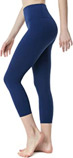 TSLA Yoga Pants 21 inches Capri High-Waist Tummy Control w Pocket