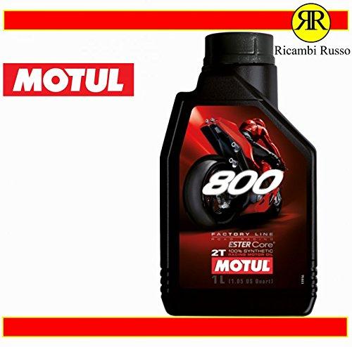 Motul 800 2T Factory Line Road Racing - Aceite para motor de moto de 2 tiempos, 1 litro