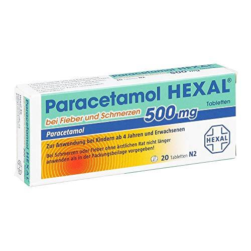 Paracetamol 500 mg Hexal, 20 St