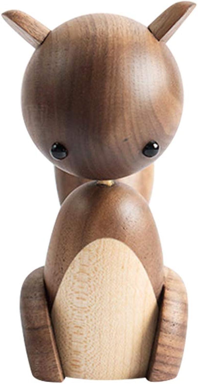 venta caliente SUPVOX Estatuillas de Ardilla de de de Madera Creativo Animal Art Craft Home Office decoración Adornos de Escritorio  Mejor precio