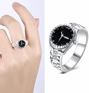 DAY.LIN Ringe Für Damen Ring Damen Der Herr Der Ringe Mode Damen Herren Zifferblatt Quarz Analog Uhr US-Größe 10