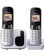 "Panasonic KX-TGC212 - Teléfono Fijo Inalámbrico Duo Digital (LCD 1.6"", DECT, Agenda, Alarma, Bloque Llamadas, Intercomunicador entre unidades) Color Plata"