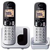 Panasonic KX-TGC212 - Teléfono Fijo Inalámbrico Duo Digital (LCD 1.6', DECT, Agenda, Alarma, Bloque Llamadas, Intercomunicador entre unidades) Color Plata