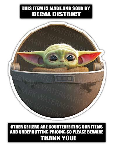 Baby Yoda Vinyl Decal Sticker