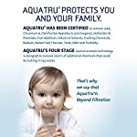 AquaTru - Countertop Water Filtration Purification System with Exclusive 4-Stage Ultra Reverse Osmosis Technology (No… 12 IS YOUR WATER SAFE TO DRINK? Studies continue to pour in regarding Toxins, Hormones, Microplastics, Cancer-linked contaminants, known Carcinogens and other toxins discovered in our Tap Water, Filtered Water…and yes, even Bottled Water. Arsenic, lead, chromium, and drug residues are commonly found in municipal drinking water. AQUA TRU's patented Ultra Reverse Osmosis water filtration system is CERTIFIED to remove such contaminants and many more! Tested and certified by IAPMO according to NSF/ANSI standards to remove 82 CONTAMINANTS - that's 15X more contaminants than the leading pitcher filters. Removes such toxins as Lead 99.1%, Chromium 97.2%, Copper 95.2%, Fluoride 93.5%, Radium 96.4%, and Chlorine 96.6% (to name a few). In fact, it's designed to remove 1000's of pollutants that could be lurking in your tap water. Taste the Difference! NO PLUMBING OR INSTALLATION required - takes just minutes to set up. AquaTru's Trusted & warrantied RO countertop system COSTS CONSIDERABLY LESS than fully installed under-the-counter RO systems, while at the same time, delivering often Cleaner, Purer, and Better Tasting Water. Why waste money & add to landfills with bottled water (93% recently found to contain micro-plastics)? 1 SET OF FILTERS REPLACES 4500 PLASTIC WATER BOTTLES (16.9 oz) - Forget about the hassle & cost of buying bottled water