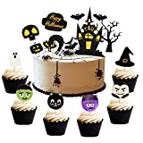 Set of 38 Halloween Cake Topper Haunted House Cake Topper Halloween...
