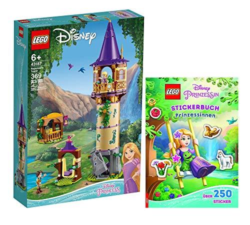 Collectix Lego 43187 - Juego de cartas de la Torre de Rapunzels (tapa blanda), diseño de Disney