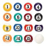 Bolas de Billar Set de Billar 16 Piezas Resina EcolóGica Mini Bola de Billar 2.5cm PortáTil Juguete de Bola de Billar Infantil Accesorio de Mesa de Billar para Entusiastas del Billar