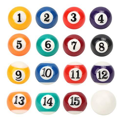 Mini Bola de Billar de Resina de 2,5 CM, Bola de Billar de 2,5 CM, Bola de Billar para niños Mini Bola de Billar de Juguete, para Salas de Juegos, Juegos de recreación