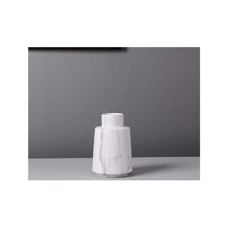第五抜本的なこだわりSHENGSHIHUIZHONG セラミック花瓶の装飾シンプルなリビングルームのモデルルーム北欧スタイルの大理石の家の花瓶 (Color : B)