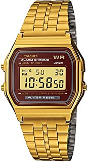 Casio Men's 33mm A159WGEA 5DF Stainless Steel Watch Gold
