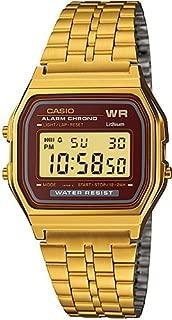 Casio Men's 33mm A159WGEA 5DF Stainless Steel Watch Gold