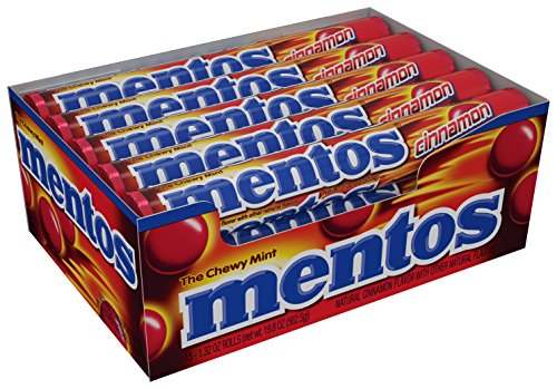 Mentos Chewy Mint Candy Roll Cinnamon Non Melting Party 14 Pieces  Bulk Pack of 15