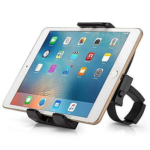 TEKCAM Bike Tablet Holder Handlebar Mount Compatible With iPad iPhone Kindle 360 Degree 3.5'' To 12'' Cradle Tablet Stand For Gym Exercise Indoor Cycling Tread Mill Spin Bike Elliptical MTB Motorcycle