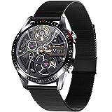 PHIPUDS Smartwatch, 1,28'' Full Touch Schermo Orologio Fitness Activity Tracker, Impermeabil IP68, Cardiofrequenzimetro, Cronometro Contapassi, Notifiche Messaggi, Controllo della Musica