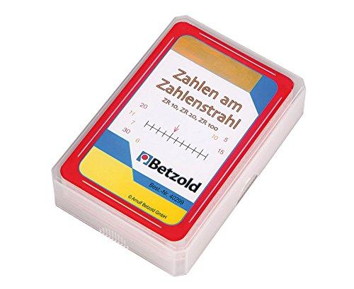 Betzold 40299 - Übungs-Karten Zahlen am Zahlenstrahl im Kunststoffetui - Lehrmittel Mathematik Grundschule Rechenspiel Lernspielzeug
