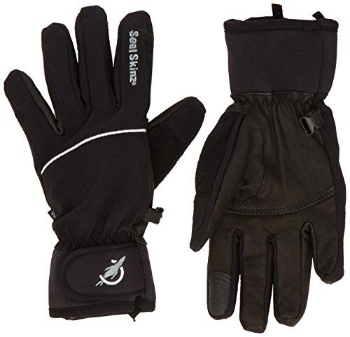 Sealskinz Custom Fit - Guantes para Hombre, Color Negro, Talla L