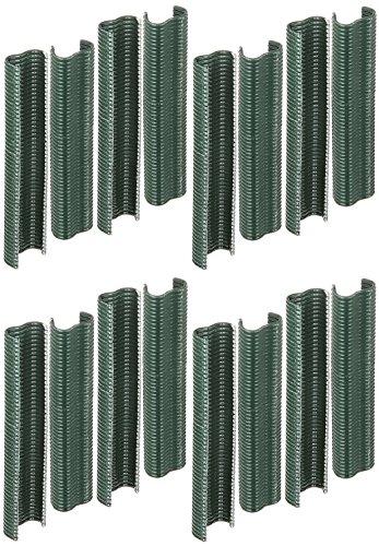 GAH-Alberts 531195 Drahtklammer | zinkphosphatiert, grün kunststoffbeschichtet | Breite 22 mm | 800er Set