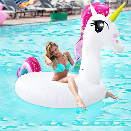 UPSTONE 43 X 43 Floats,Pool Floats,Pool Floats for Adults,Inflatable Pool,Shark Swimming Ring,Pool Toys,Swimming Toys,Swimming Pool,Adults /& Kids,Blue PVC