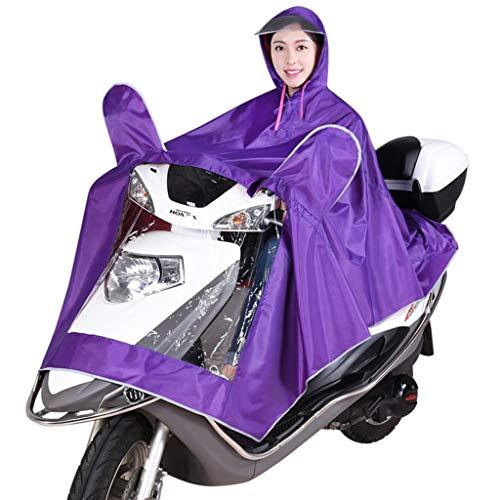 JKL impermeable para scooter de movilidad impermeable con panel de visión a través, resistente al agua universal poncho de ajuste pequeño, para scooters de 3 y 4 ruedas (color: morado, tamaño: XXXL)
