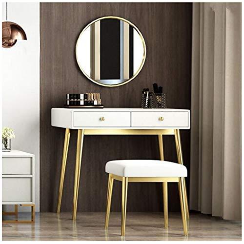 YWZQ klänningsset, trä frisör sovrum dekoration möbler makeup bord vitt hus av trä frisyr kommode för kvinnor vit, 80