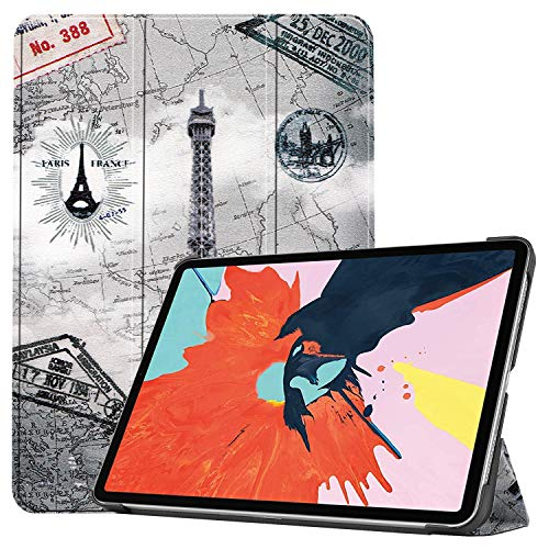 iPad 8th Generation/iPad Air 4 2020 Case, FANSONG Trifold Painted Leather[Pencil Holder/Charging Sleep Function] Ultra Thin Slim Flip Smart Magnetic Stand Cover Kids Girl for Apple iPad 10.8- Tower