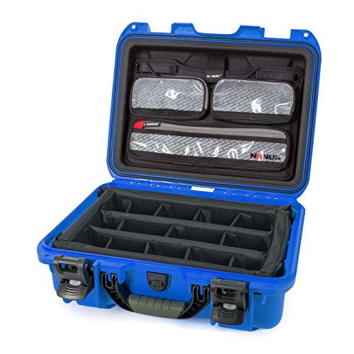Nanuk 920 Hartschalenkoffer mit Deckel und gepolsterter Trennwand, wasserdicht, Blau