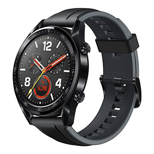 "HUAWEI Watch GT (2018) GPS, Bluetooth Smartwatch, 1.39"" AMOLED, HR Monitor, 2-Week Battery Life, Waterproof, Silicone Strap."