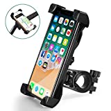 QMEET Bike Phone Mount 360°Rotation, Bike Phone Holder for iPhone Android GPS Other Devices Between 3.5 to 6.5 inches (Black)