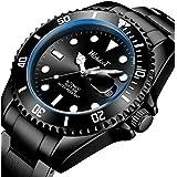 Mens Watches Automatic Mechanical Stainless Steel Watch Luminous Waterproof Self-Winding Calendar Wristwatch case Rotating Bezel Business Casual Watch for Men