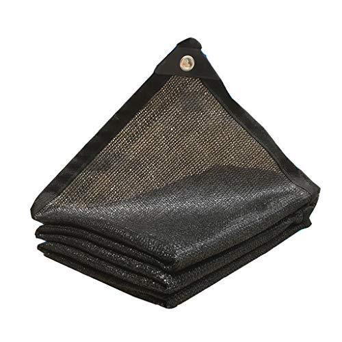 Brook Road Reflektierendes Aluminet ™ Shade-Tuch90% schwarzes Shade-Tuch, UV-beständiger, geklebter Sonnenschutz mit Ösen Shade Net Greenhouse Sun-Block-Netz, 12x12ft / 4x4m