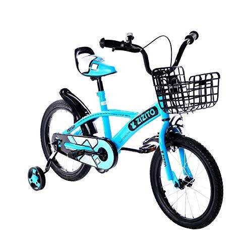 Bicicleta infantil a partir de 2 años [16/14/12 pulgadas] bicicleta infantil con cesta y ruedas de apoyo de 16 pulgadas, para niñas, 4 años