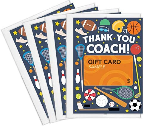 Tiny Expressions Sports Coach Thank You Gift Card Holders 4 Gift Card Holders product image