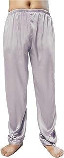 Wantschun Mens Satin Silk Sleepwear Pyjamas Pants Nightwear Loungewear Pajamas Bottom Trousers