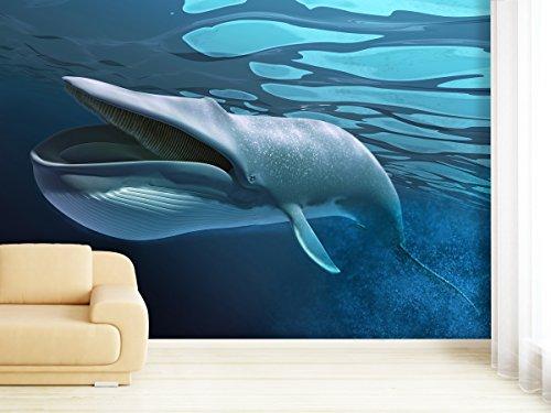 XXL-behang fotobehang Swimming Whale in verschillende maten - naar keuze als papier of vliesbehang 420x270cm