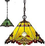 XYQS Lámparas de araña barroca de Tiffanystyle, Accesorios de iluminación de Techo de Techo de Techo mediterráneo, luz Colgante Vintage para Sala de Estar de Dormitorio