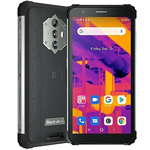 Blackview BV6600 Pro, Cámara Térmica 16 MP + 8 MP, Akku 8580 mAh, Móvil Irrompible, Teléfono Inteligente Android 10 4G de 5.7', 4 GB de RAM 64 GB de ROM, NFC Dual SIM GPS FM Face ID Negro