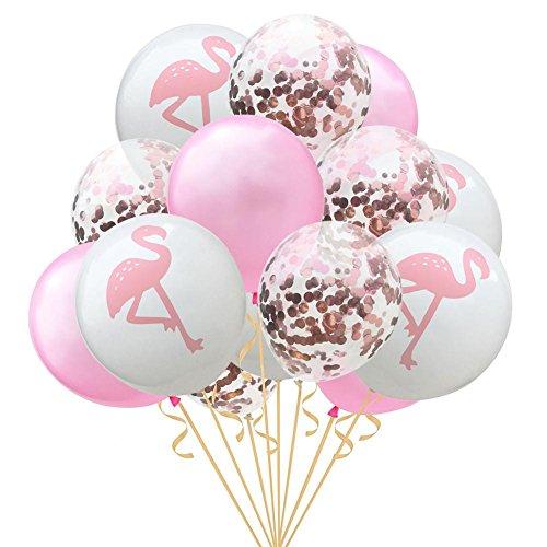 15 pcs 30,5 cm Flamingo Pineappleturtle Feuille Confettis Ballons, parfait pour décoration de mariage anniversaire Hawaii fête Décor