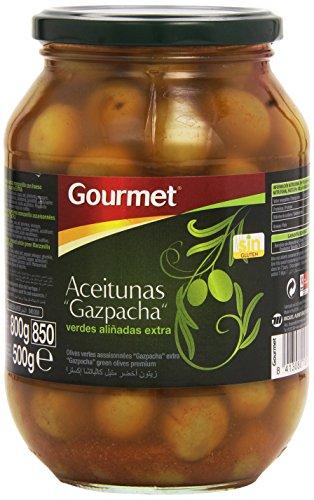 Gourmet - Aceitunas Gazpacha - Verdes aliñadas extra - 500 g