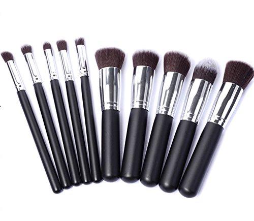 Cexin professionel 10 pinceaux de maquillage exquis avec trousse 4 couleurs