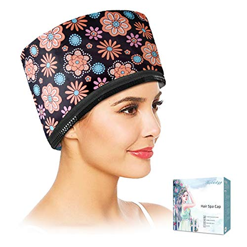 110V Electric Hair Cap Thermal Cap Hat Hair Thermal Treatment Cap with 2 Mode Temperature Control For Hair Spa Home Hair Thermal Treatment Nourishing Hair Care, Black